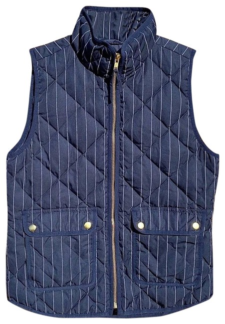 Item - Blue Excursion Pin Stripe Puffer Vest Size 2 (XS)