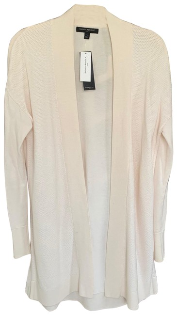 Item - Winter White Long Open Front Cardigan Size 4 (S)