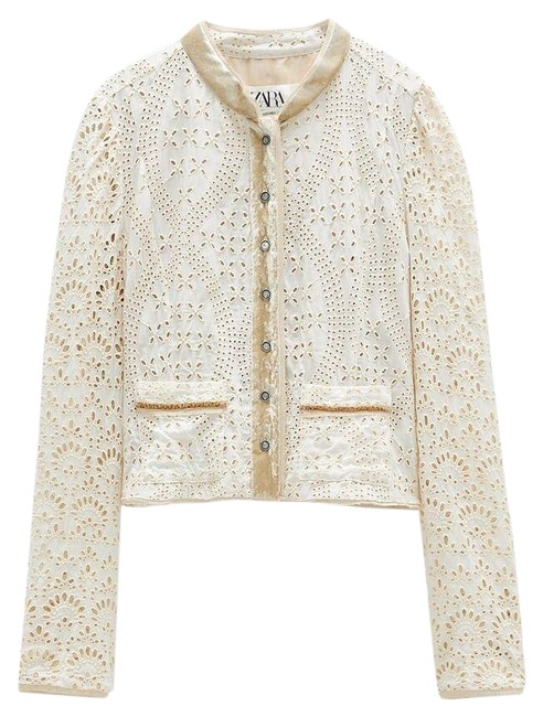 Item - Ecru Limited Edition Eyelet Embroidery Jacket Size 8 (M)