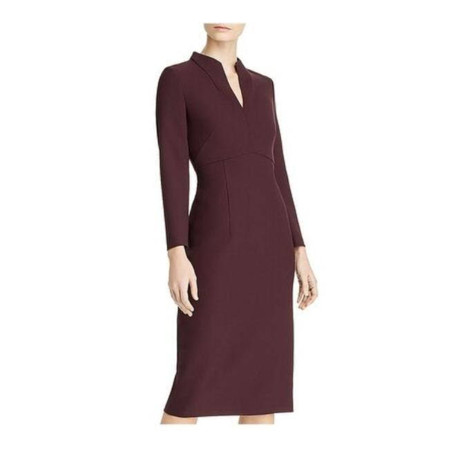 Item - Purple Power Debara Crepe V-neck Mid-length Work/Office Dress Size 0 (XS)