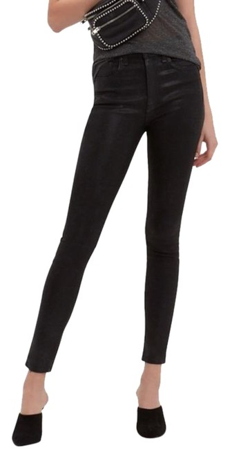 Item - Black Coated High Rise Skinny Jeans Size 25 (2, XS)