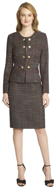 Item - Black Coral Multi Faux Double Breasted Tweed Skirt Suit Size 2(XS)
