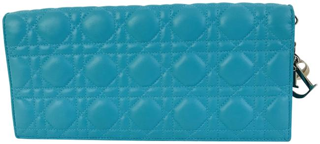 Item - Lady Cannage Convertible Blue Turquoise Leather Clutch