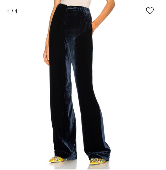 Item - Navy Velvet Pants Size 4 (S, 27)
