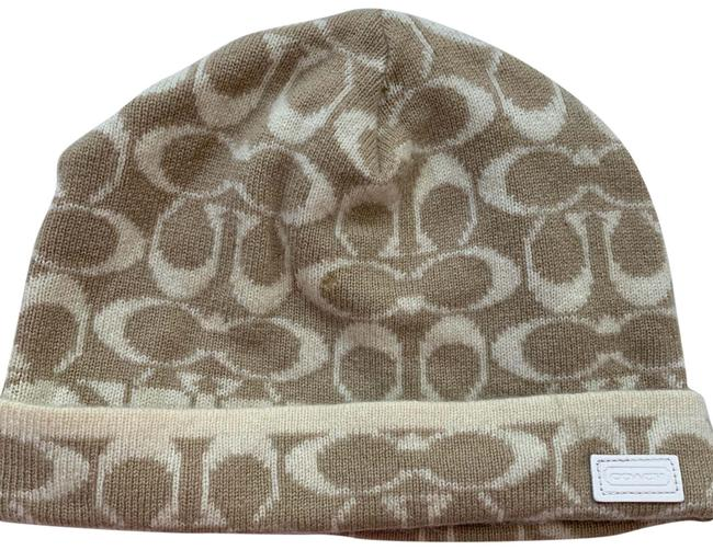 Item - Beige Wool Cap Beanie Logo Tan Hat