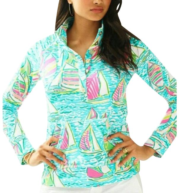Item - Blue XS Captain Printed Popover Ygr Activewear Top Size 2 (XS)
