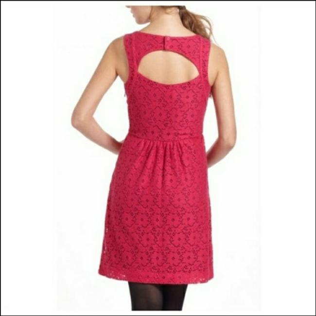 Item - Hot Pink Sweetheart Keyhole Lace Skater Short Casual Dress Size 2 (XS)