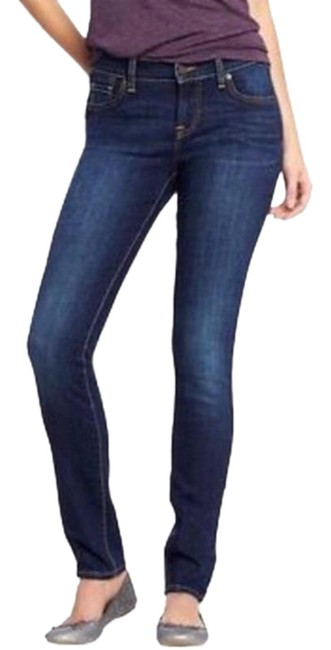 Item - Blue Medium Wash Womens Denim Sweetheart Stretch Short Five Pocket Skinny Jeans Size 25 (2, XS)