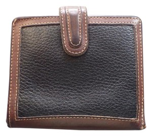Coach Coach Wallet Black/Brown Leather Bifold Coin Purse