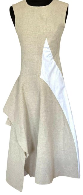 Item - Beige/White Marni Mid-length Night Out Dress Size 2 (XS)