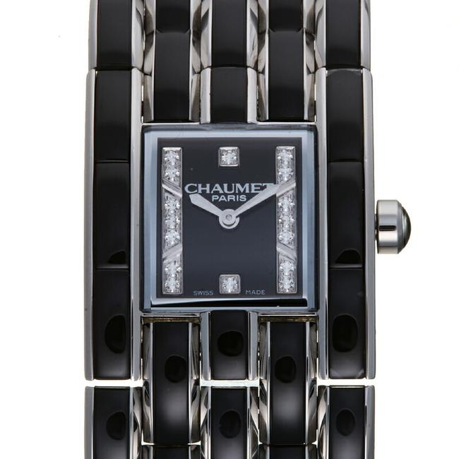 Item - Caseis Cuff Diamond Ladies W19633-34c Crystal Black Dial Watch