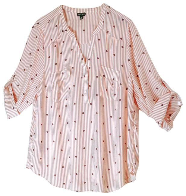 Item - Pink White and Black Blouse Size 28 (Plus 3x)