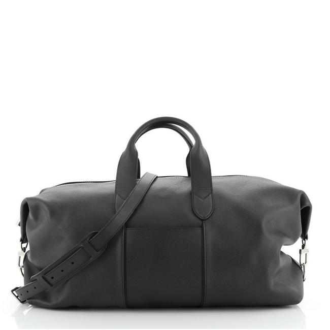 Item - Astralis 50 Black Taïga Leather Weekend/Travel Bag
