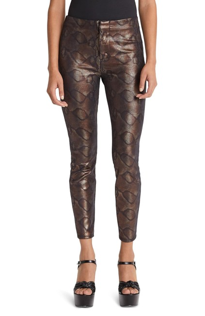 Item - Black/Bronze The Looker Snake Texture High Pants Size 4 (S, 27)