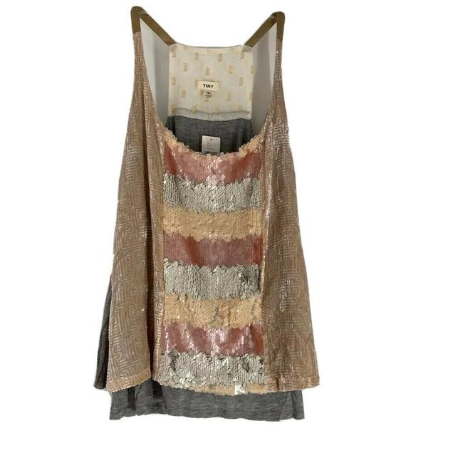 Item - Gray Sequined Racerback S Tank Top/Cami Size 6 (S)