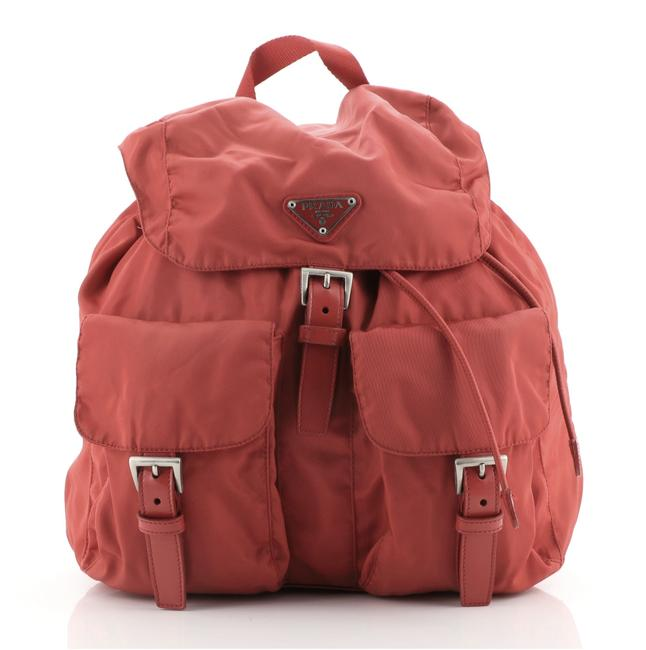 Item - Double Front Pocket Tessuto Medium Red Nylon Backpack