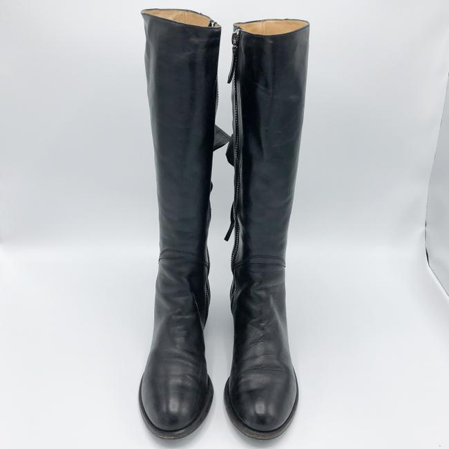 Valentino Black Ascot Tall Leather Riding with Bow Boots/Booties Size EU 37.5 (Approx. US 7.5) Regular (M, B) Valentino Black Ascot Tall Leather Riding with Bow Boots/Booties Size EU 37.5 (Approx. US 7.5) Regular (M, B) Image 2