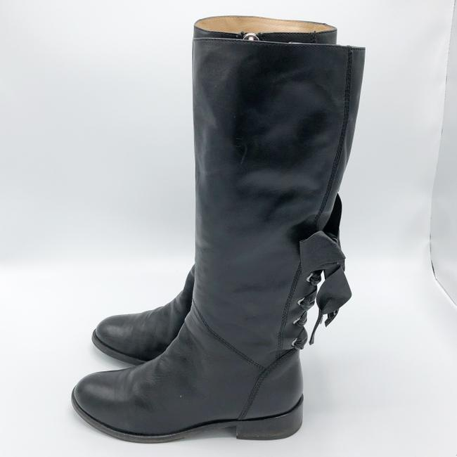 Valentino Black Ascot Tall Leather Riding with Bow Boots/Booties Size EU 37.5 (Approx. US 7.5) Regular (M, B) Valentino Black Ascot Tall Leather Riding with Bow Boots/Booties Size EU 37.5 (Approx. US 7.5) Regular (M, B) Image 3