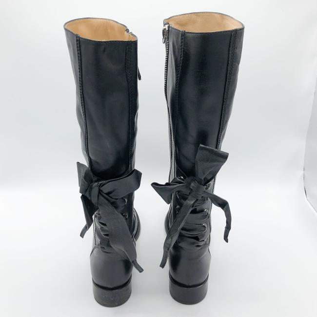 Valentino Black Ascot Tall Leather Riding with Bow Boots/Booties Size EU 37.5 (Approx. US 7.5) Regular (M, B) Valentino Black Ascot Tall Leather Riding with Bow Boots/Booties Size EU 37.5 (Approx. US 7.5) Regular (M, B) Image 4
