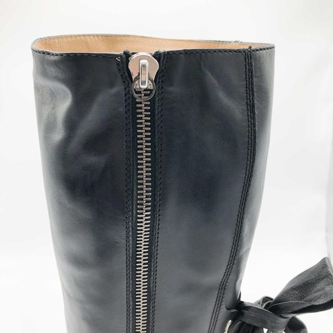 Valentino Black Ascot Tall Leather Riding with Bow Boots/Booties Size EU 37.5 (Approx. US 7.5) Regular (M, B) Valentino Black Ascot Tall Leather Riding with Bow Boots/Booties Size EU 37.5 (Approx. US 7.5) Regular (M, B) Image 5
