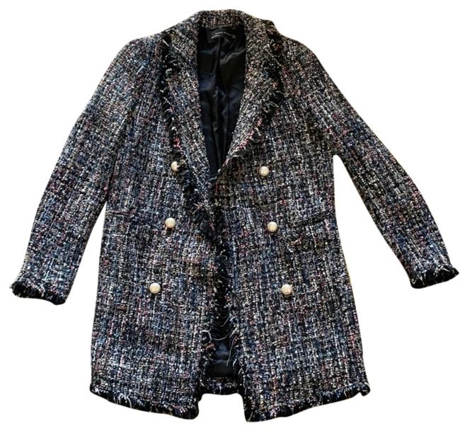 Item - Blue Pink Black Grey Woman's Made In Morocco Blazer Jacket Size 2 (XS)
