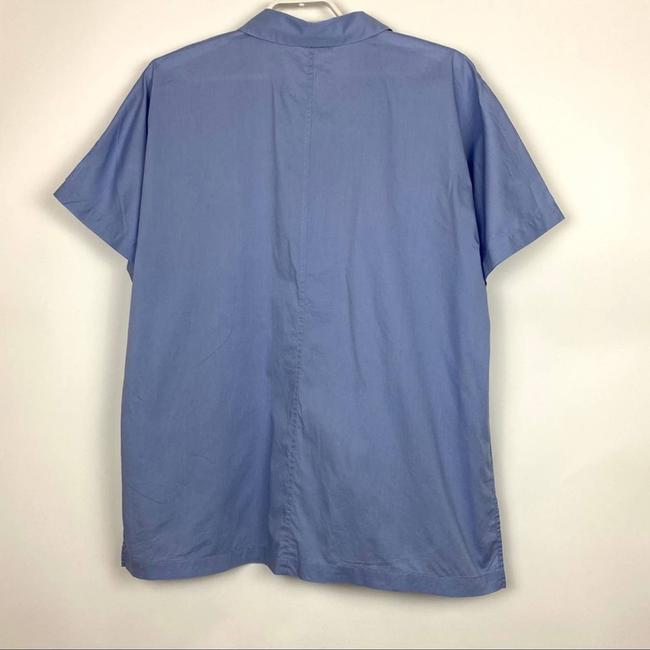 Eileen Fisher Blue Organic Cotton Lawn Classic Shirt Button-down Top Size 10 (M) Eileen Fisher Blue Organic Cotton Lawn Classic Shirt Button-down Top Size 10 (M) Image 4