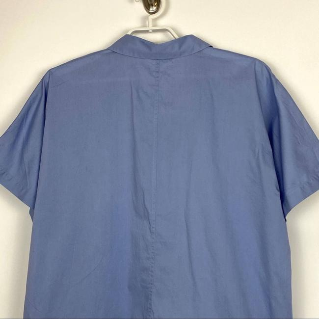 Eileen Fisher Blue Organic Cotton Lawn Classic Shirt Button-down Top Size 10 (M) Eileen Fisher Blue Organic Cotton Lawn Classic Shirt Button-down Top Size 10 (M) Image 5