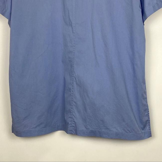 Eileen Fisher Blue Organic Cotton Lawn Classic Shirt Button-down Top Size 10 (M) Eileen Fisher Blue Organic Cotton Lawn Classic Shirt Button-down Top Size 10 (M) Image 6