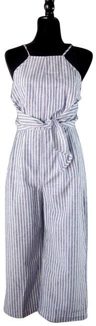 Item - Blue & White XS Chilmark Striped Cropped New Romper/Jumpsuit