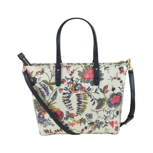 Tory Burch Kerrington Small Zip In Gabriella Floral Ivory Coated Canvas Tote Tory Burch Kerrington Small Zip In Gabriella Floral Ivory Coated Canvas Tote Image 3