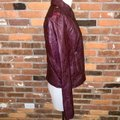 Guess Red Quilted Faux Leather Moto Jacket Size 14 (L) Guess Red Quilted Faux Leather Moto Jacket Size 14 (L) Image 4