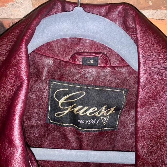 Guess Red Quilted Faux Leather Moto Jacket Size 14 (L) Guess Red Quilted Faux Leather Moto Jacket Size 14 (L) Image 8