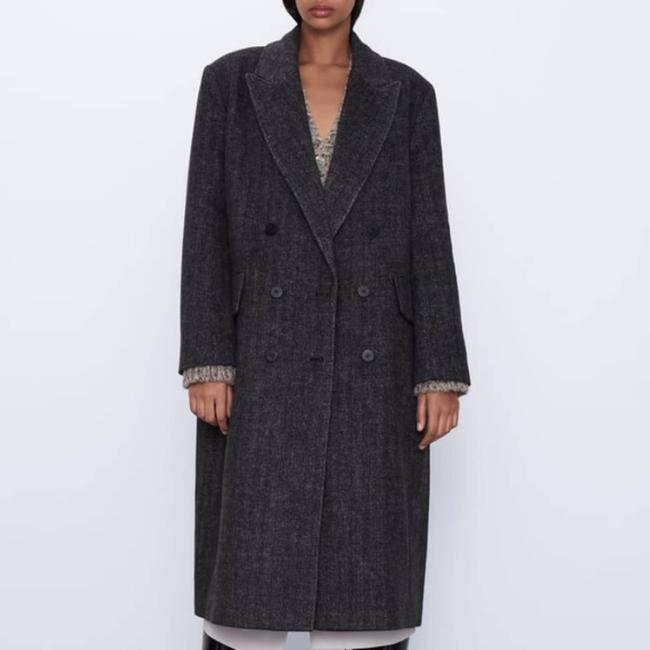 Item - Gray Double Breasted Coat Size 2 (XS)