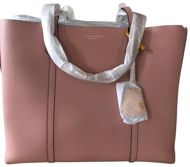 Item - Perry Triple Compartment Pink Leather Tote