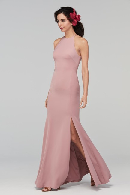 Item - Pink Stretch Crepe Mical Formal Bridesmaid/Mob Dress Size 8 (M)
