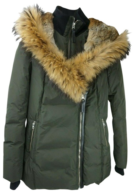 Item - Green Adali Women's Down Jacket with Fur Collar Army Coat Size 8 (M)
