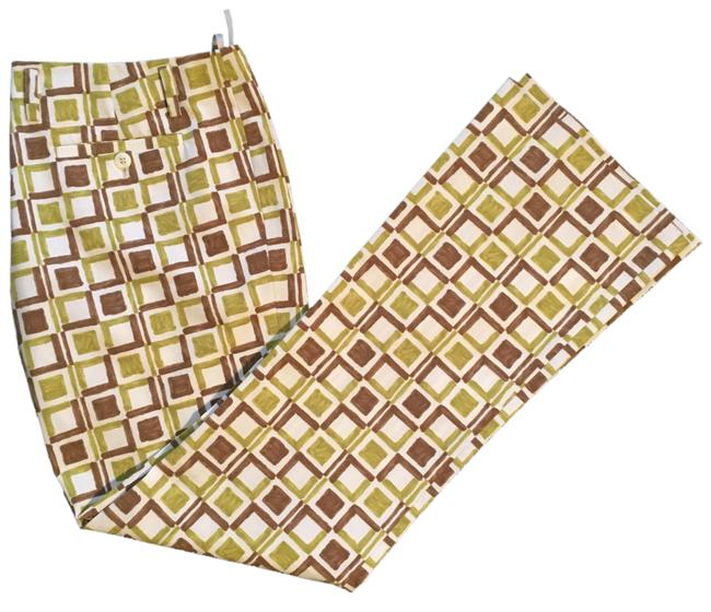 Item - Green and Brown Mid-rise Patterned Pants Size 8 (M, 29, 30)