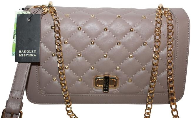 Item - With Square Studs Purse Taupe Vegan Leather Cross Body Bag