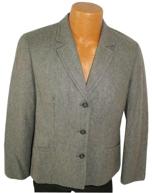 Item - Gray Wool 3 Button Classic Lined Black Label Blazer Size 12 (L)