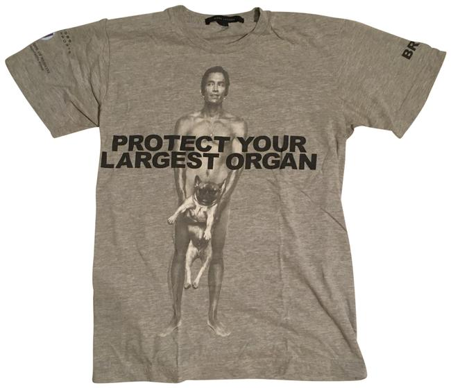 Item - Grey Protect Your Largest Organ Ft Brandon Boyd Tee Shirt Size 6 (S)