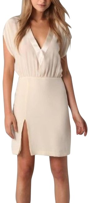 Item - Cream Michelle Deep V Night Out Dress Size 0 (XS)
