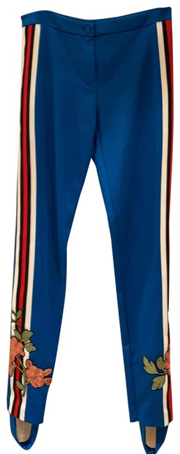 Item - Blue (Red/White) 'track' Pants Size 6 (S, 28)