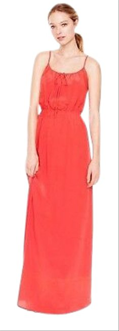 Item - Red Poppy Silk Long Casual Maxi Dress Size 4 (S)