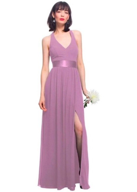 Item - Wisteria (Dusty Mauve) Chiffon Halter Gown In Feminine Bridesmaid/Mob Dress Size 0 (XS)