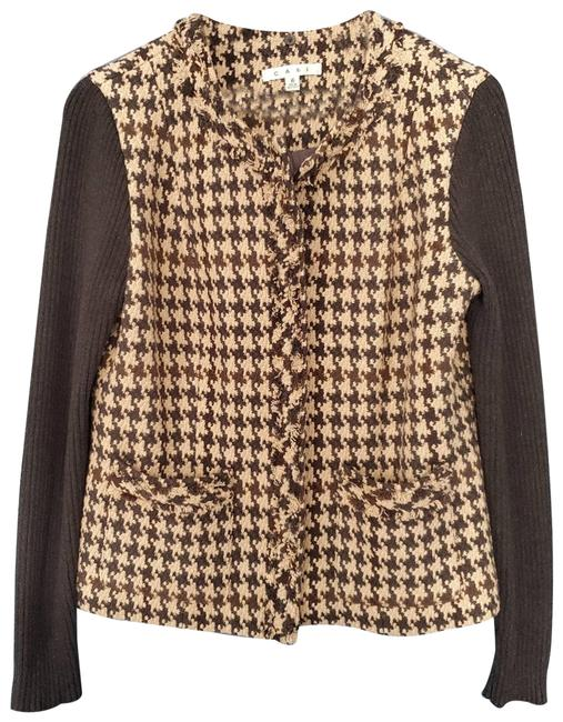 Item - Brown Houndstooth Jacket Size 6 (S)