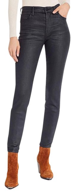 Item - Black Coated The Bond Mid Rise Skinny Jeans Size 28 (4, S)