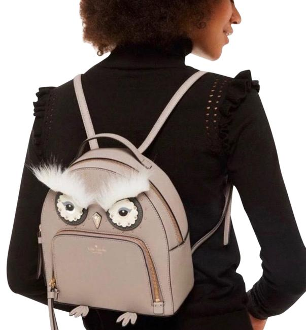 Item - Owl Tomi Gray Leather Backpack