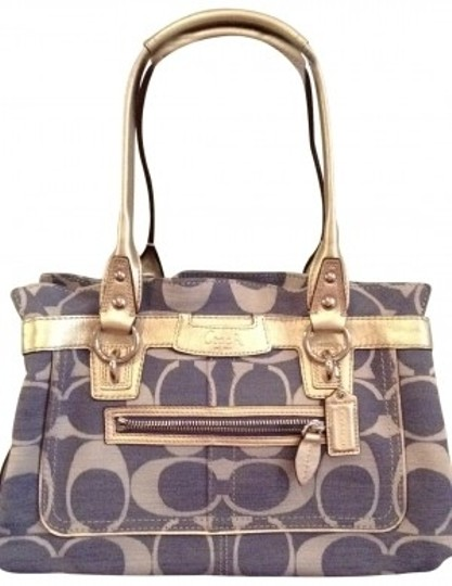 Preload https://img-static.tradesy.com/item/28584/coach-denim-like-fabric-iconic-c-symbol-blue-with-silver-detail-shoulder-bag-0-0-540-540.jpg
