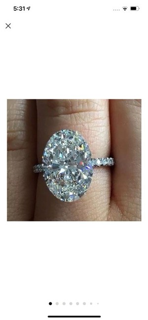 Item - Size 56789 Let Me Know Your Size After Yousilver 925 Oval Diamond Single Solitaire Zircon New Pay Diamond Halo 5 Carat Ring