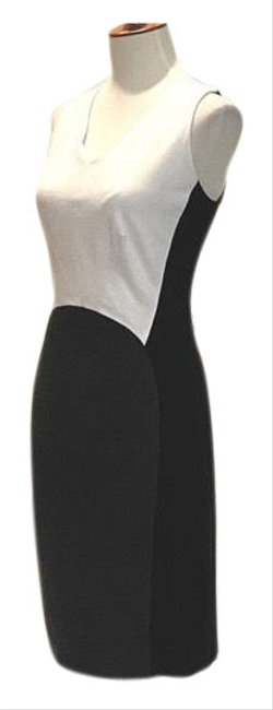 Item - Black Sleeveless Color Sheath Mid-length Work/Office Dress Size 10 (M)